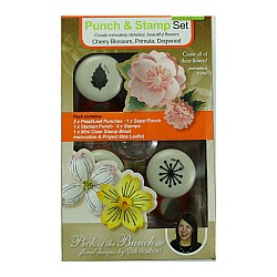 Tonic Studios Punch and Stamp Set - Cherry Blossom Primula Dogwood