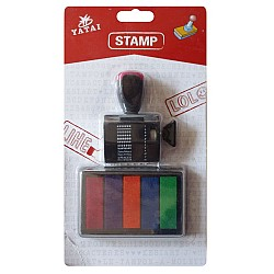 Yatai 12 designs rubber stamp with stamp pad