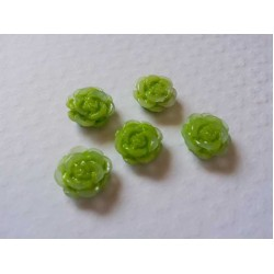 Resin Roses (1cm)  - Green