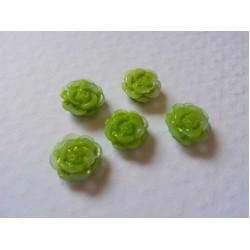 Resin Roses (1cm)  - Green
