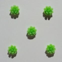 Resin Flower (1.5 cm) - Design 1 - Green