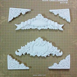 Resin Embellishments by Eno Greetings - Design 1