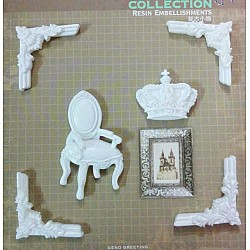 Resin Embellishments by Eno Greetings - Design 2