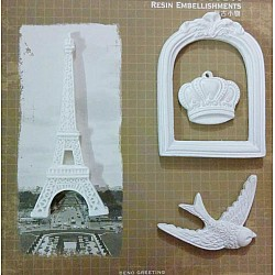 Resin Embellishments by Eno Greetings - Design 5