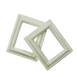 Resin rectangle frame - Design 2 (Pack of 5 frames)
