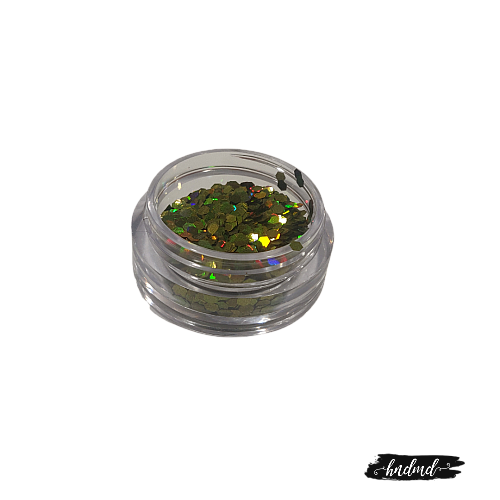Craft Holographic Sequins - Olive Green