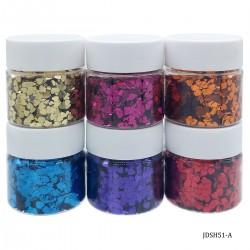 Craft Sequin Mixes (Set of 6) - Hearts - JDSH51-A