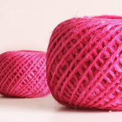 Jute Cord - Pink (50 metres)