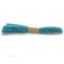 Golden double colored Paper Twine - Bright Blue (10 mts)