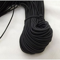 3 mm round Elastic Cord (15 meters) - Black