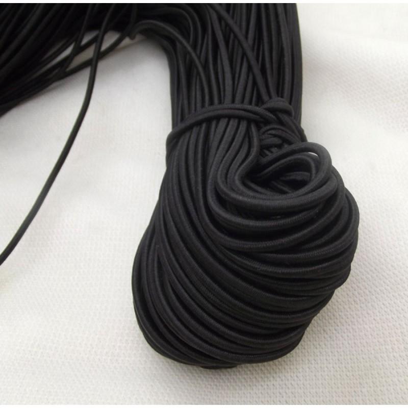 Buy 3 Mm Round Elastic Cord 15 Meters Black Online In