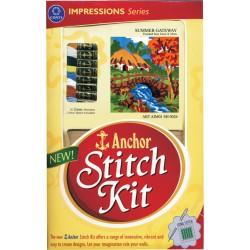 Anchor Stitch Kit - Summer Getaway (22cm x 25cm)