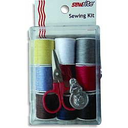 Sewrite Sewing Kit with Scissors and Spooled Thread