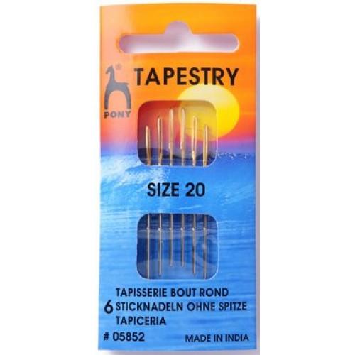 Pony Gold Eye Tapestry Sewing Needle Range - Size 20