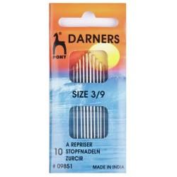 Pony Gold Eye Darners Sewing Needle Range - Size 9