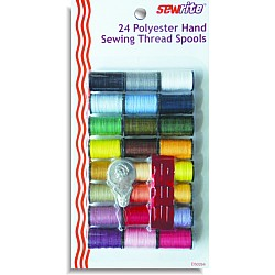 Sewrite 24 Spools Polyester Thread With Needle & Threader