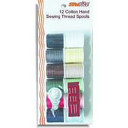 Sewrite 12 Spools Mercerized Cotton Thread With Needle & Threader