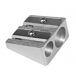 Milan Aluminium double use pencil sharpener