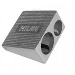 Milan Aluminium double use pencil sharpener