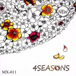Adult colouring Book - 4 seasons