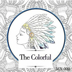 Adult colouring Book - The colorful