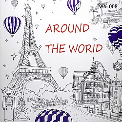 Adult colouring Book - Around the World