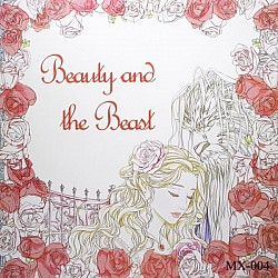 Adult colouring Book - Beauty and the Beast