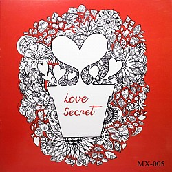 Adult colouring Book - Love Secret
