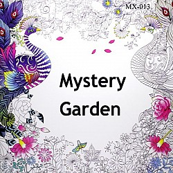Adult colouring Book - Mystery Garden