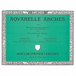 Arches Aquarelle Block 300 Gsm Cold Pressed - 20 Sheets (36 by 51 cm)