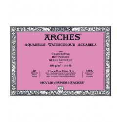 Arches Aquarelle Block 300 Gsm Hot Pressed - 12 Sheets (26 by 36 cm)