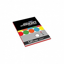 CAMPAP 1 side ruled bright 5 mixed colour paper pack A4( 4 sheets per colour) - Pack of 2