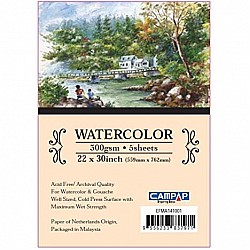 Campap 100% COTTON WATERCOLOUR PAPER PACK (22 by 30 inch)