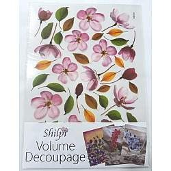 Shilpi Transparent Sospeso / Volume Decoupage Sheet - Pink Flowers