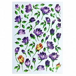 Shilpi Transparent Sospeso / Volume Decoupage Sheet - Purple Florals