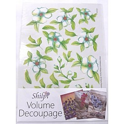Shilpi Transparent Sospeso / Volume Decoupage Sheet - White Hellobore