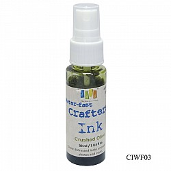 Jags Waterfast Crafters Ink - Crushed Olive (30 ml)