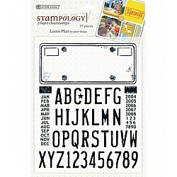 Autumn Leaves Stampology Clear Stamps - License Plate