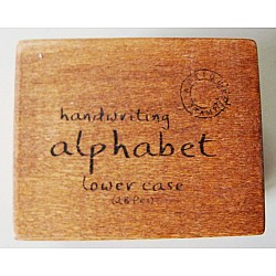 Alphabet Wooden Rubber Stamp Set - LowerCase Alphabets