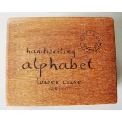 Alphabet Wooden Rubber Stamp Set - LowerCase Alphabets