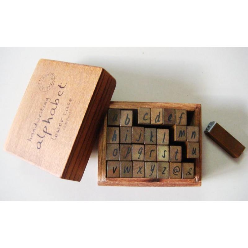 Buy Alphabet Wooden Rubber Stamp Set Lowercase Alphabets
