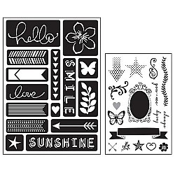 Art C Stamp and Stencil Set - Words and Icons