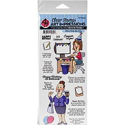 Art Impressions Clear Stamps - Office Party