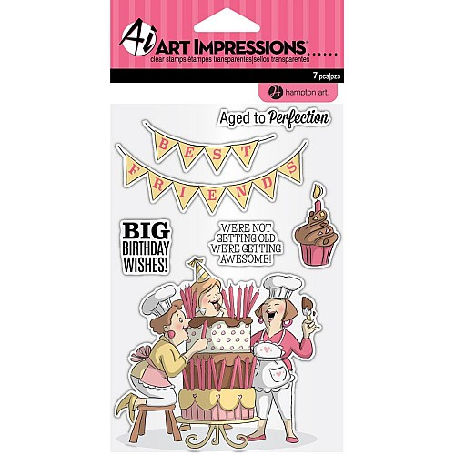 Art Impressions Clear Stamps - Big Birthday Wishes