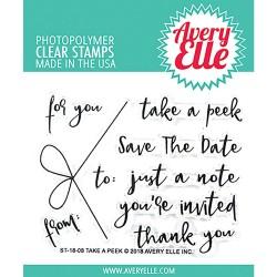 Avery Elle Clear Stamp Set 4X3 - Take A Peek