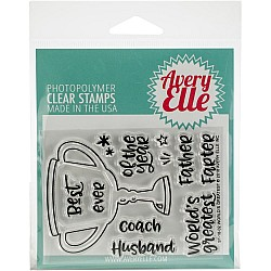 Avery Elle Clear Stamp Set 4X3 - Worlds Greatest