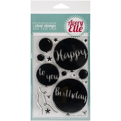 Avery Elle Clear Stamp - Balloons