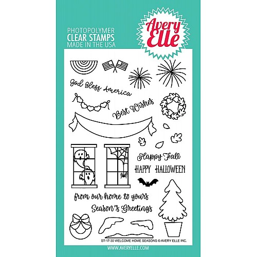 Avery Elle Clear Stamp - Welcome Home