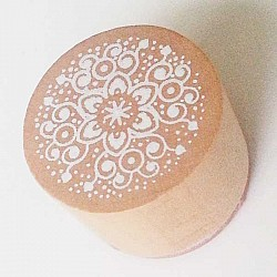 Round Rubber Stamp - Floral Design 2