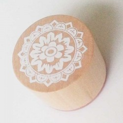 Round Rubber Stamp - Floral Design 3